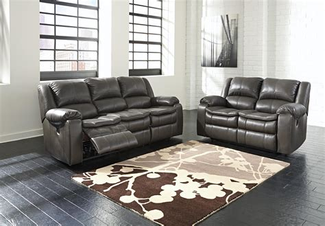 ashley signature leather reclining sofa faux leather reclining power loveseat with contoured