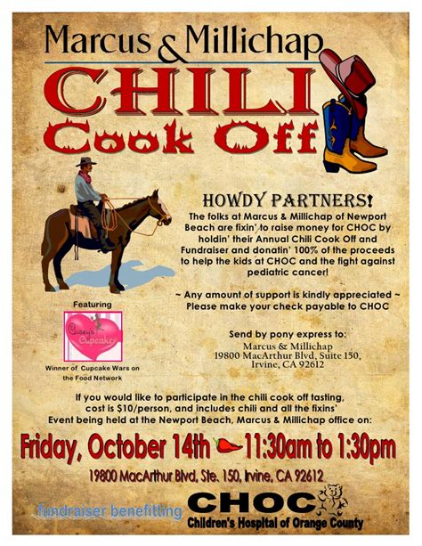 chili cook off email flyer