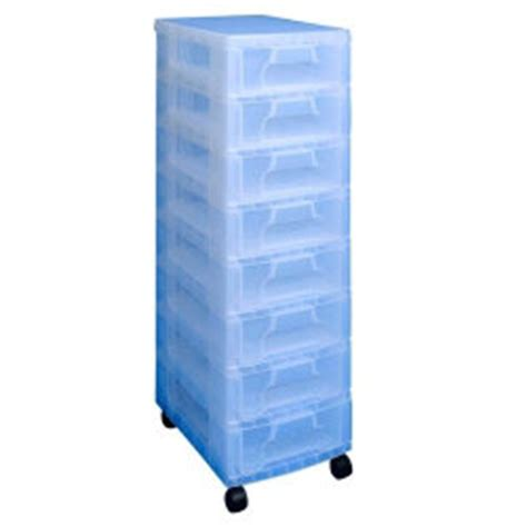 Clear Drawer Storage Units Really Useful Storage Unit 8 X 7 Litre Clear Tower Clear