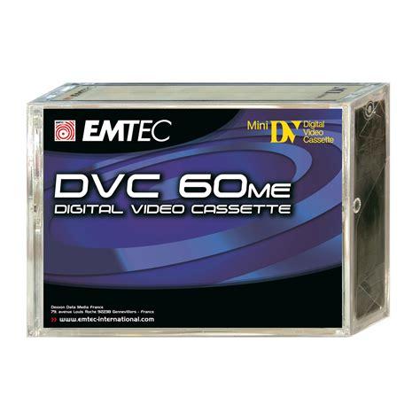 cassette mini dv emtec cassette mini dv 60mn pack de 5 ekdvc605