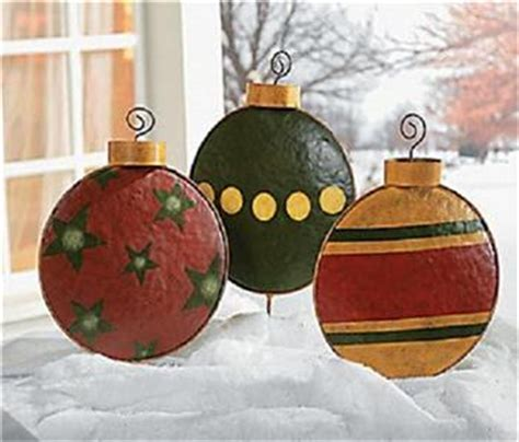 outdoor large ornaments 3 pc outdoor metal large ornament yard garden