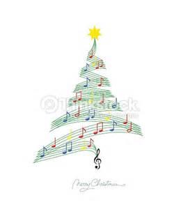 imagenes navidad musical nota musical personal de abeto de navidad arte vectorial
