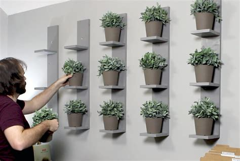 Wall Plant Shelf by Wall Mounted Plant Shelves Diy Gray House Studio