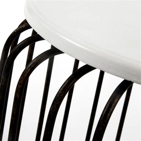 Tabouret Metal Noir by Tabouret Design M 233 Tal Noir Et Blanc By Drawer