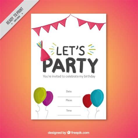 imagenes de invitaciones de cumpleaños bonitas invitaci 243 n para fiesta de cumplea 241 os bonita descargar