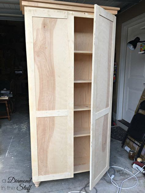 tall storage cabinet  doors plans  matter