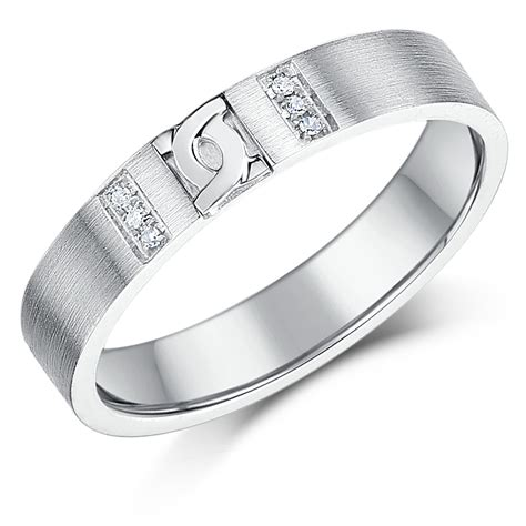 4mm silver 4mm sterling silver d link design wedding ring