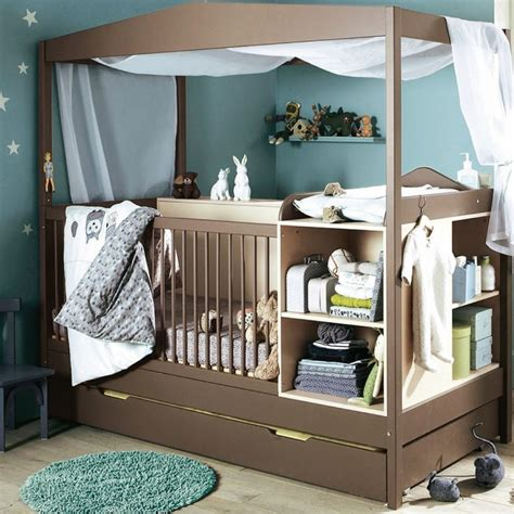 Brown Baby Cribs Adorable Brown Wooden Baby Cribs Bedrooms Design With Blue Fur Rug On Wooden Floor As Well