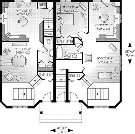 multi family house plans triplex hennessey multi family triplex plan 032d 0377 house