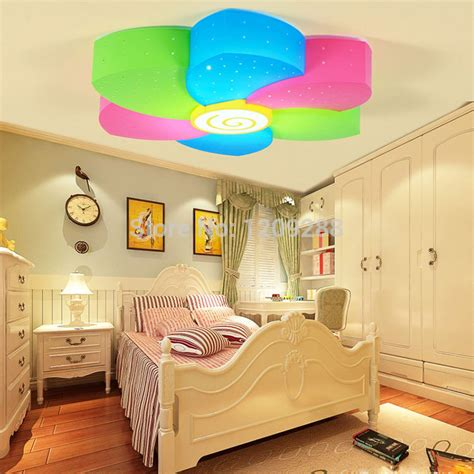 wecus seven color flower children bedroom ceiling l led