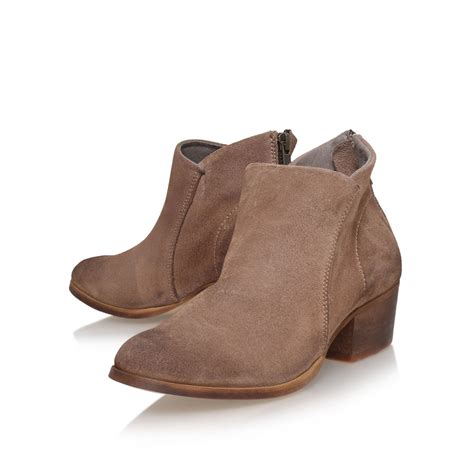 h by hudson apisi low heel ankle boots in brown lyst