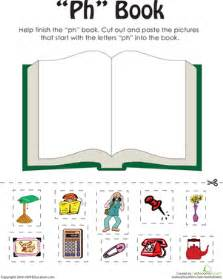 quot ph quot words a word family book worksheet education com