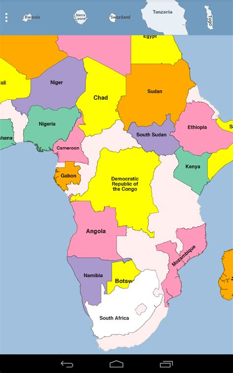 africa map puzzle africa map puzzle appstore for android