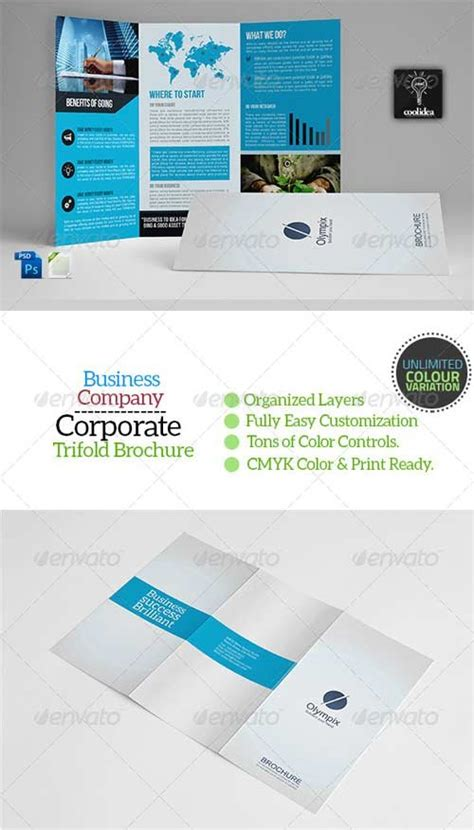 brochure templates graphicriver a4 trifold business