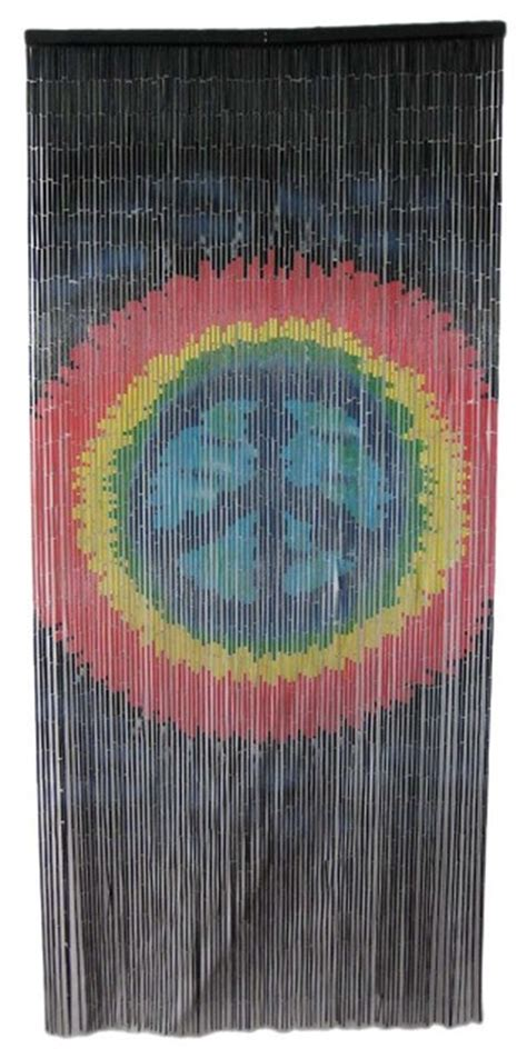 peace sign window curtains tie dye peace sign 90 strand bamboo beaded curtain