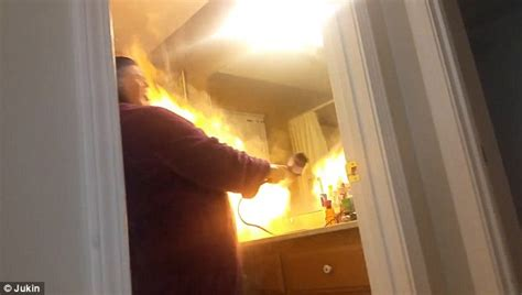 Hair Dryer Or Bad shows s hair dryer burst into flames after