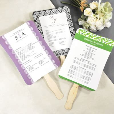 wedding programs fans templates sand starfish wedding program templates personalized