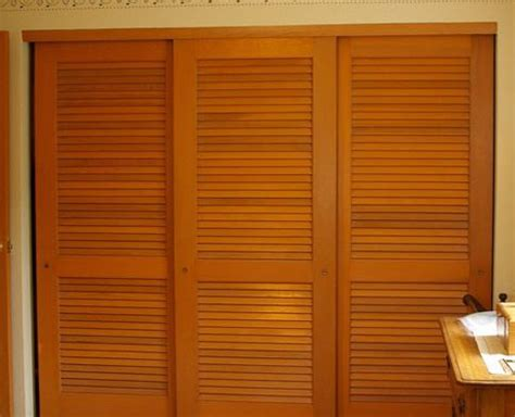 Sliding Shutter Closet Doors Nod To Shutters Louvered Sliding Closet Door Ideas Closets Sliding Closet Doors
