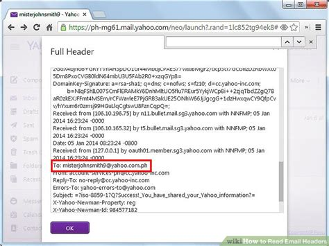 yahoo email header how to read email headers 7 steps with pictures wikihow