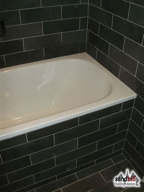 Tiling Side Of Bathtub by Kitchen Bathroom Renovation In Wandsworth Sw11