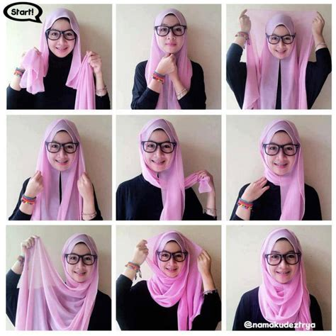 tutorial pashmina dan paris hijab tutorial for glasses