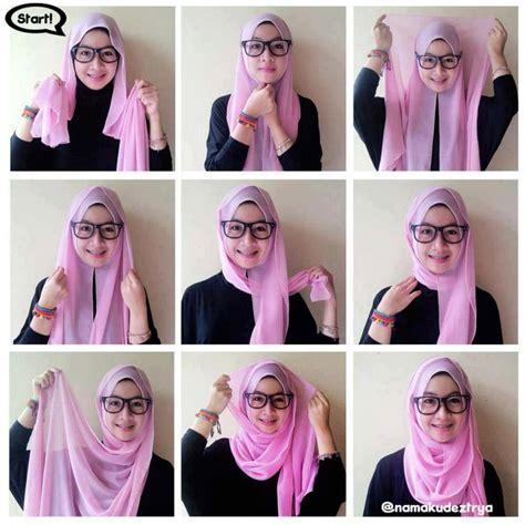 hijab tutorial  glasses