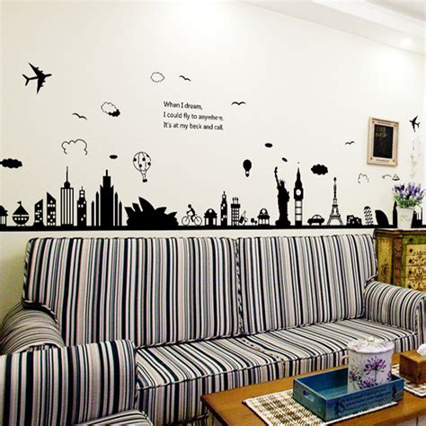 large wall decals for living room new eiffel tower sydney greek cities large wall stickers home decor living room diy art mural