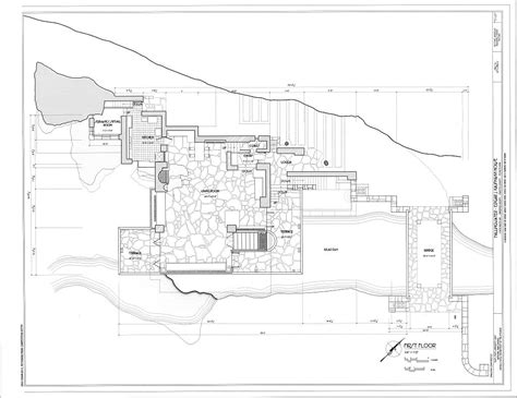 frank lloyd wright waterfall house plans falling water house plan numberedtype
