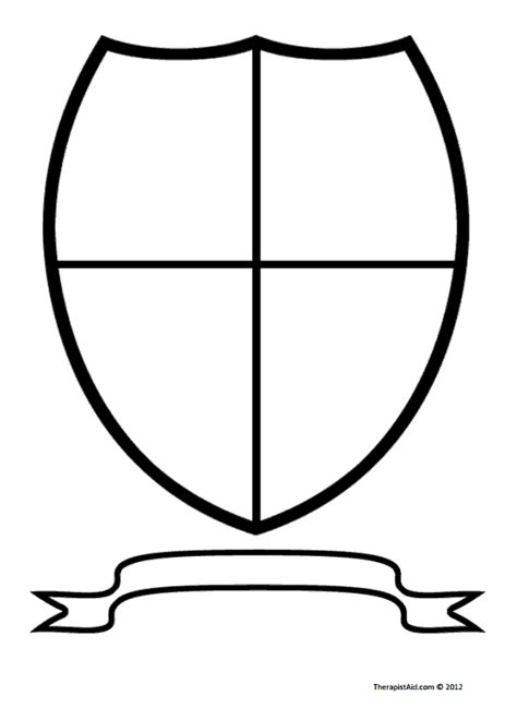 family shield template blank family shield