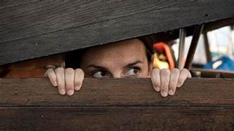 Woman playing hide and seek free stock photos