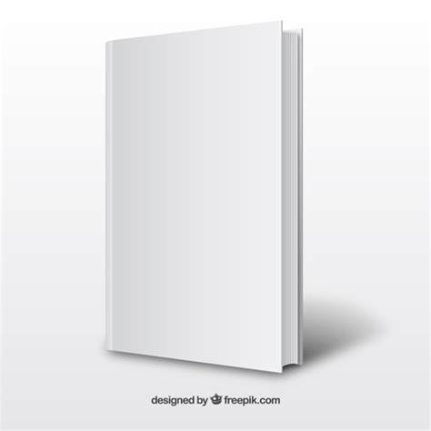 3d book cover template free realistic white book template vector free