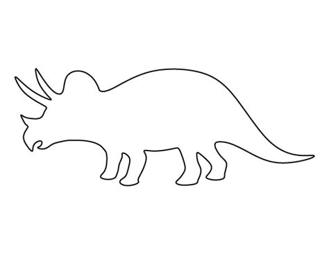 Dinosaur Templates To Print by Triceratops Pattern Use The Printable Pattern For Crafts