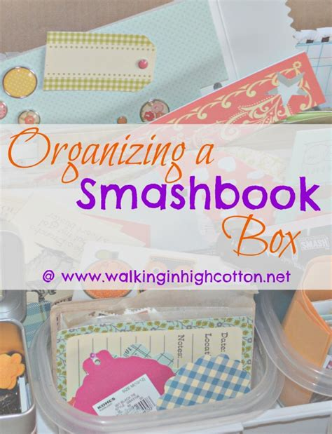 organization books organizing a smashbook box and more journaling pages
