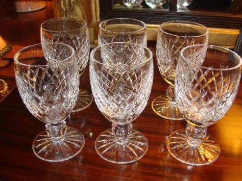 Serpentine Goblets It Or It by Waterford Cut Set Of Six Boyne Pattern Claret Or