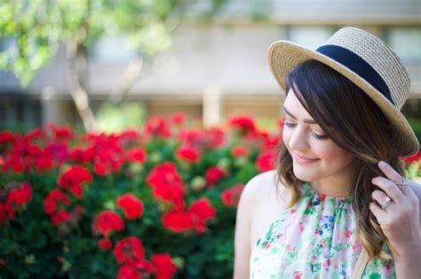 guest post flattering hats for every head already floral trapeze dress a giveaway mae amor