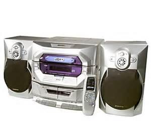 audiovox stereo shelf system w 5 disc cd dual cassette