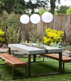 terrasse tisch selber bauen die besten 17 ideen zu betontisch auf mesas