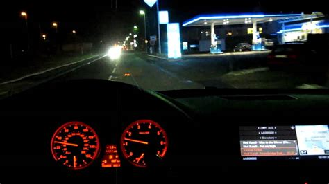 bmw dashboard at night bmw x6 50i driving at night part 2 youtube