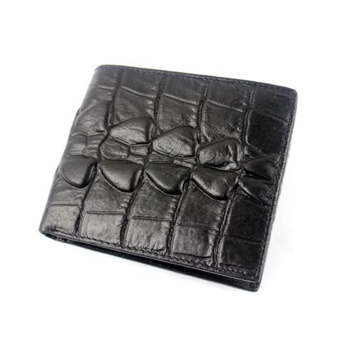 Handmade Wallet Pattern - vintage leather crocodile pattern embossed trifold id