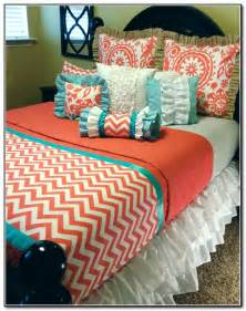 Coral Chevron Comforter Coral Colored Bedding Sets Beds Home Design Ideas