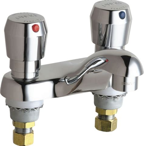 Chicago Push Faucet by Chicago Faucets 802 V665abcp Chrome Centerset Bathroom