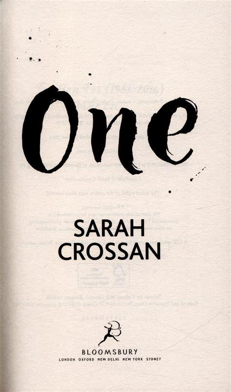 One By Crossan one by crossan 9781408827215 brownsbfs
