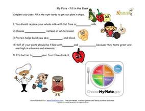 my plate healthy tips for kids fill in the blank my