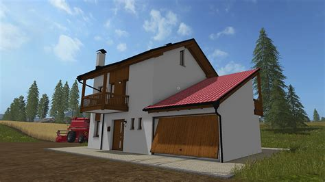 residential house with garages ls 17 farming simulator