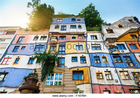 hundertwasser house the hundertwasser house in vienna stock photo royalty free image 86804301 alamy