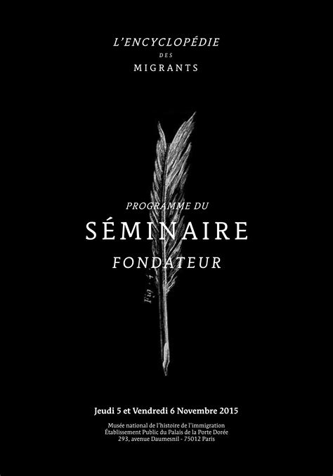 Séminaire fondateur - 5 et 6 novembre - Paris