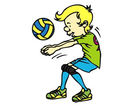 imagenes de niños jugando volibol dibujo de saque de voleibol pintado por en dibujos net el
