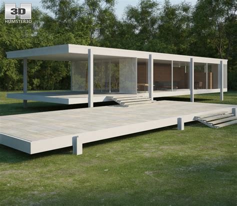 farnsworth house farnsworth house 3d model architecture on hum3d