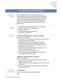 Hr Career Objectives Hr Generalist Resume Best Human Resource Generalist Resume