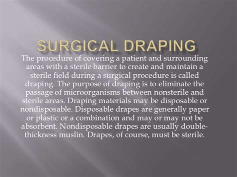 What Is The Purpose Of Surgical Drapes surgical draping